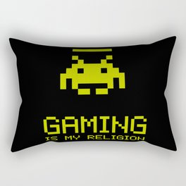 Gaming is my religion Rectangular Pillow