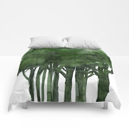 Tree Impressions No.1C by Kathy Morton Stanion Comforters