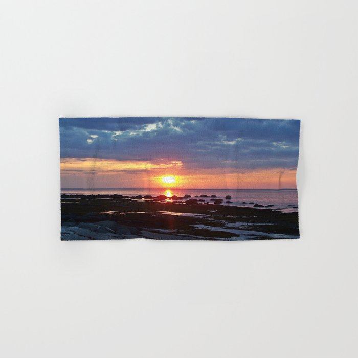Sunset under Stormy Skies Hand & Bath Towel