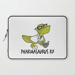 Pharmasaurux Rx - Pharmacy Dinosaur Laptop Sleeve