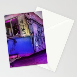 Light Painted Mobile Home Stationery Cards