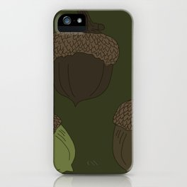 Northern Pin Oak Acorns from the Pacific Northwest iPhone Case