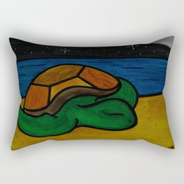 Sleeping Honu Rectangular Pillow