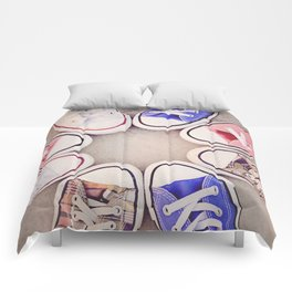 in love with chuck Comforters