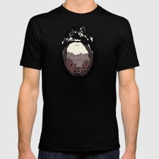 A View Black MEDIUM Mens Fitted Tee