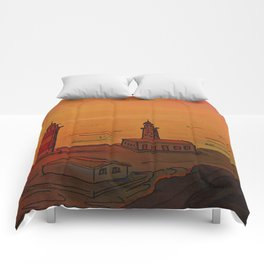 Good Morning / New and Old Lighthouse Fuencaliente La Palma Comforters
