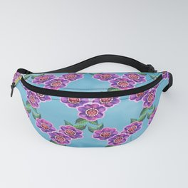 Purple Flowers Pattern Fanny Pack