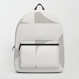 Scandinavian Contemporary Geometry - Square and Half Circles - Light Grey Backpack