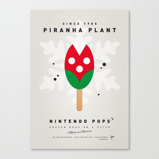 My NINTENDO ICE POP - Piranha Plant Canvas Print