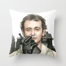 Bill Murray as Peter Venkman from Ghostbusters Throw Pillow