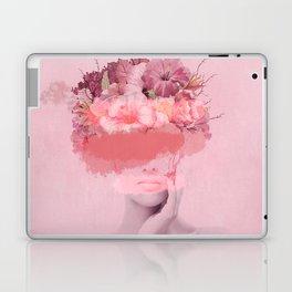 Woman in flowers Laptop & iPad Skin