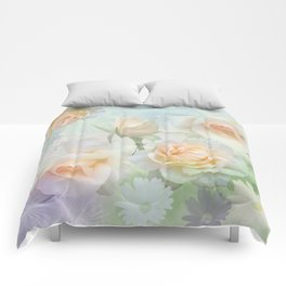 Dreaming of a Rosegarden Comforters