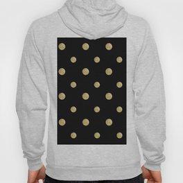 Happy Polka Dots Gold on Black #1 #decor #art #society6 Hoody