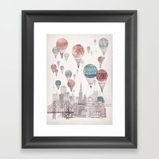 Voyages Over San Francisco Framed Art Print