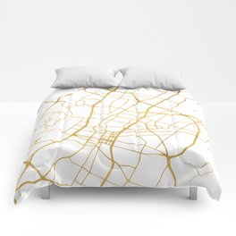 AUSTIN TEXAS CITY STREET MAP ART Comforters