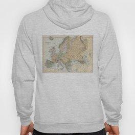 Vintage Map of Europe (1892) Hoody