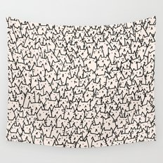 A Lot of Cats Wall Tapestry