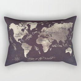 world map 18 Rectangular Pillow