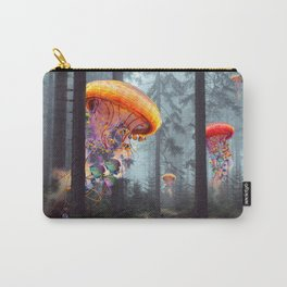ElectricJellyfish Worlds in a Forest Carry-All Pouch