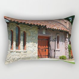 Lourdes University-  Portiuncula  Chapel Doors I Rectangular Pillow