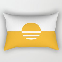 Milwaukee Wisconsin - Gold - People's Flag of Milwaukee Rectangular Pillow