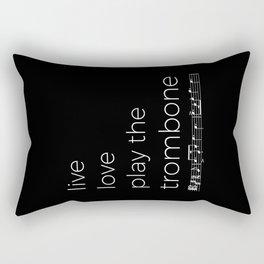 Live, love, play the trombone (dark colors) Rectangular Pillow