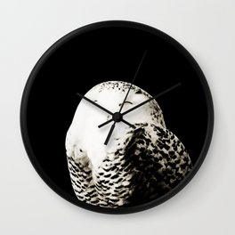 Snow Owl #1 #animal #decor #art #society6 Wall Clock