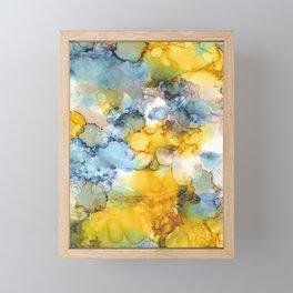 Alcohol Ink 'Fools Gold' Framed Mini Art Print