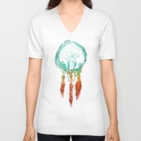 instagram V-neck T-shirts featuring Dream Catcher (the rustic magic) by Picomodi