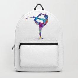 Rhythmic Gymnastics Girl Clubs Gymnastic Clubs Gift Colorful Watercolor Art Flexible Girls Backpack