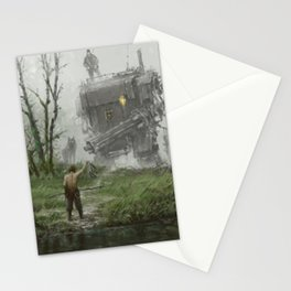 1920 - fisherman Stationery Cards