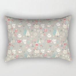 Baby fox pattern 03 Rectangular Pillow