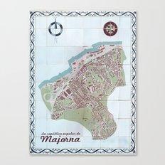 La república popular de Majorna Tile Map Canvas Print