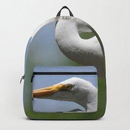 Great Egret Three - Utah Backpack