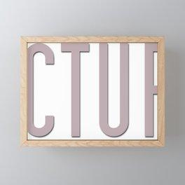 Fractured Era Series Logo Framed Mini Art Print
