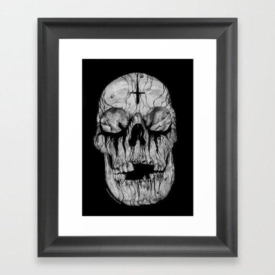Black blooded Framed Art Print