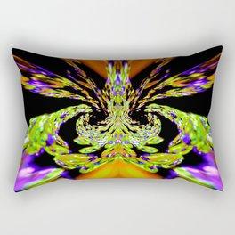 Lime Bubbles Rectangular Pillow