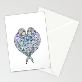 LOVE BIRDS IN COLOUR Stationery Cards