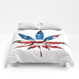 American Marijuana Flag Comforters