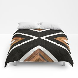 Urban Tribal Pattern No.1 - Concrete and Wood Comforters