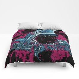 SHARK WITH FRICKIN LAZER BEAMZ Comforters