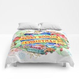 Merry Bookish Christmas Comforters