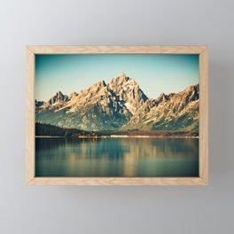 Mountain Lake Escape Framed Mini Art Print