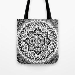Yin Yang Mandala Pattern Tote Bag