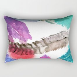 watercolor feathers Rectangular Pillow