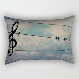 Nature's Choir Birds and Music A611 Rectangular Pillow