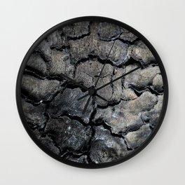 Burned Wall Clock