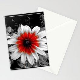 Red Stroke Gaillardia Flower   Nadia Bonello Stationery Cards