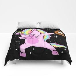 Dabbing Softball Unicorn Comforters