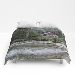 Red Cabin Comforters